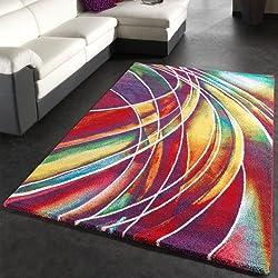 Alfombra Moderna de Colores Mixtos Estampado Multicolor, (Varias medidas) 200 x 290 cm