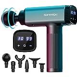 Pistolet de Massage Musculaire, Appareil de Massage Pistolet 30 Vitesses Réglables avec Ecran LED, 6 Têtes de Massage et Batt