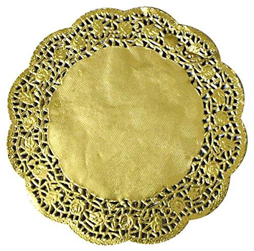 Tortenspitzen rund 27 cm 100 Stück gold