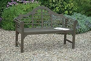 solid wood garden bench lutyens garden bench GREY OILED FINISH FSC HARDWOOD ACACIA