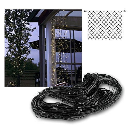 Best Season System Decor LED-Net 2 x 1,5 m, 100-L- Extra Birnchen warm weiß schwarzes Kabel outdoor 495-51 (Led 100l)
