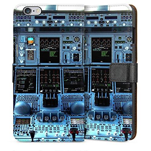 """artboxONE Handyhülle Apple iPhone 5s, weiß Silikon-Case Handyhülle """"Cockpit Airbus A380 Case"""" - Sport - Smartphone Silikon Case mit Kunstdruck hochwertiges Handycover von Alexis von Croy Sideflip Case weiß"""