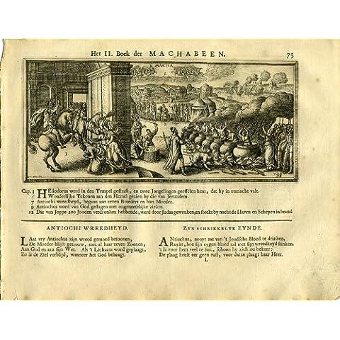 theprintscollector antico religioso print-maccabee-heliodurus-borcht-1717 - Antico Poesia Libri