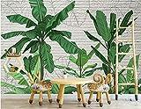 [anpassen-kontaktieren Sie uns], alte Zeitung 3D tapete - Nordic tropischen Bananenblatt Wand Wohnzimmer - Wallpaper Poster Wanddekoration von Bestwind