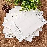 Zhi Jin A6estándar recargables para insertos de papel lista portátiles diario diario 100G/m², 100páginas, color Week Plan