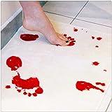 Un tapis de bain pour bain de sang Empreintes de pas pour tapis Tapis antidérapant Produits de salle de bains avec tapis de s