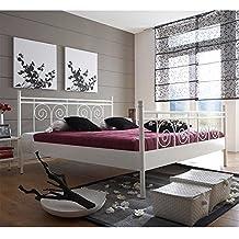 Metallbett Weiß 100×200