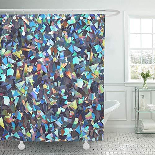Emvency - tenda da doccia impermeabile da 167,6 x 182,9 cm, con ghirlanda di natale, decorazione classica per la casa, in poliestere, con ganci regolabili, poliuretano, muilt 3, 72