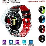 Smart Watch, Reloj Inteligente de Pulsera Muñeca Impermeable de IP68 Deportivo Bluetooth 4.0 Uso de 10-15 Días con Pantalla HD Colorida y Correa Reemplazable para Android & IOS iPhone 8/x