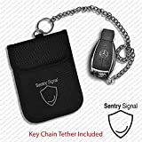 Sentry Signal Car Key Signal Blocker Pouch Bag With Key Chain Tether - Faraday Bag for Keyless Entry Vehicle Theft Protection * Fob Security