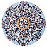 Koly_Tondo Tovagliolo da spiaggia Tovaglia di yoga in cotone Tappeto da tè da tappeto (A)