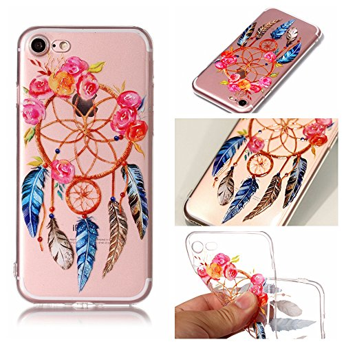 Cover iphone 7 / iphone 8 , iphone 7 / iphone 8 custodia , Cozy Hut iphone 7 / iphone 8 cover Morbido TPU Custodia [Ultra sottile] [Leggera] [Assorbimento-Urto] Paraurti in TPU Morbida Protettiva Case Dreamcatcher