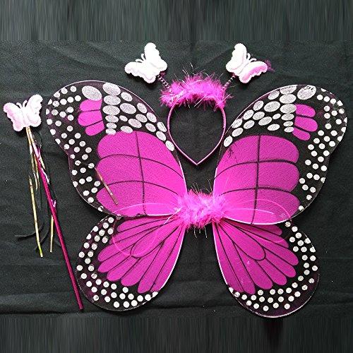 Damjic Halloween Kostüme Schmetterlingsflügel Anzüge Engel Schmetterlinge Flügel 45 * 35 Cm (Demon Wings Kostüme)