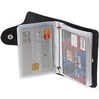 REALMAX Business Card Holder 24 Slots Black Men | Luxury Soft PU Leather Plastic Sleeves Credit Debit Visiting | Wallet…