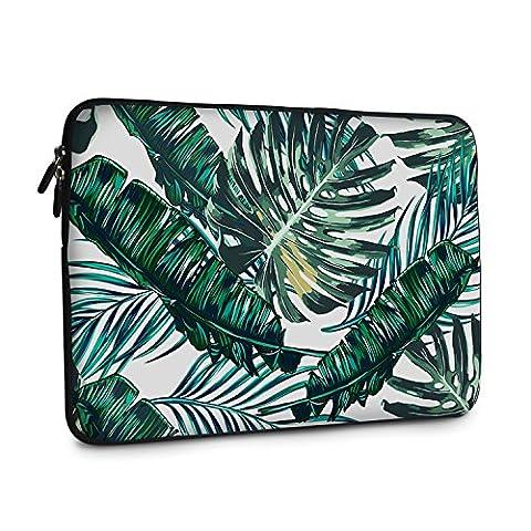 iCasso Palm Leaf Pattern Schützend Weich Handtasche , Tragetasche Laptop sleeve Einfachen Stil Hülle für Laptop / Dell / Surface / MacBook, Notebook und Tablet / Lenovo / Samsung (11-13.3