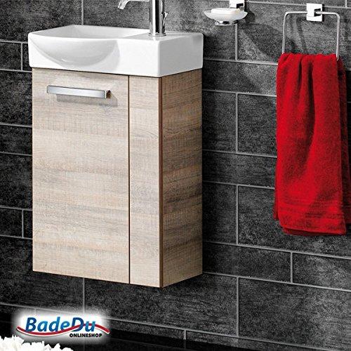 FACKELMANN Gäste WC Waschtisch A-Vero in Graueiche-Optik