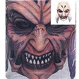 Accessoryo - Horror Kobold Druckkopf volles Gesicht Halloween-Maske Netz