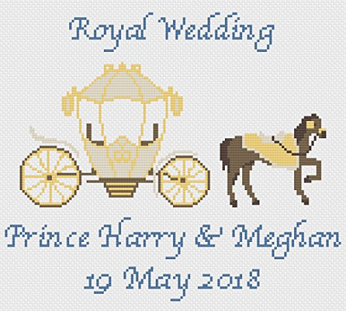 Florashell Prince Harry & Meghan Royal - Kit de punto de cruz para boda