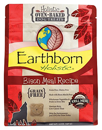 Bild: Earthborn Bison Meal Recipe Oven Baked Biscuits Grain Free Pet Dog Treats 14oz