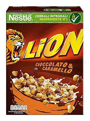 Cereales con chocolate y carameloNestlé Lion,400gr