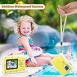 DIDseth Digitalkamera   Minikamera mit 12MP HD 5 MP CMOS Sensor, Kinderkamera HD 720p Videofunktion - Wasserdicht bis 3 Meter Gelb … - 2