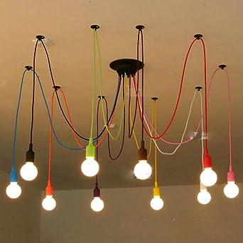 NASEN Kleidung Shop Farbe Multi Zimmer Hngende Lampe Fenster Esszimmer Wohnzimmer Cafe Kreative Persnlichkeit Kronleuchter Und Bunte Spinne Anhnger