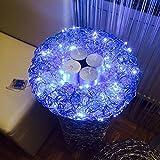 Adventkranz inkl Kerzen, Dekoteller und 100 LED Lichterkette