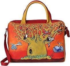 Handtasche GrandiOcchi, Tagestasche, Umhängetasche. Kunsthandwerk Produkt, handgefertigt in Italien von Gonzato Moda, Made in Italy