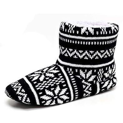 Dunlop Bobby Slip On Mens Fairisle Slipper Boots: Amazon.co.uk ...