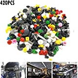420pcs Universal Auto attache porte panneau de garnissage Clip attaches Auto Rivet pare-chocs Push Engine Fender attache Clip de retenue