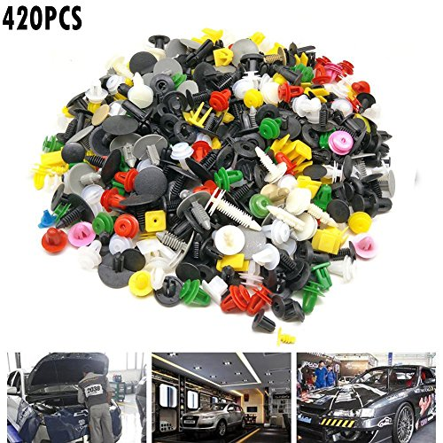 420pcs Universal Auto attache porte panneau de garnissage Clip attaches Auto Rivet pare-chocs Push Engine Fender attache Clip de retenue pas cher – Livraison Express à Domicile