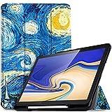 IVSO Funda Carcasa para Samsung Galaxy Tab S4 10.5 SM-T830N/T835N, Slim PU Protectora Carcasa Con Auto Wake/Sleep Función para Samsung Galaxy Tab S4 SM-T830N/T835N 10.5 pulgadas 2018, Blue Sky