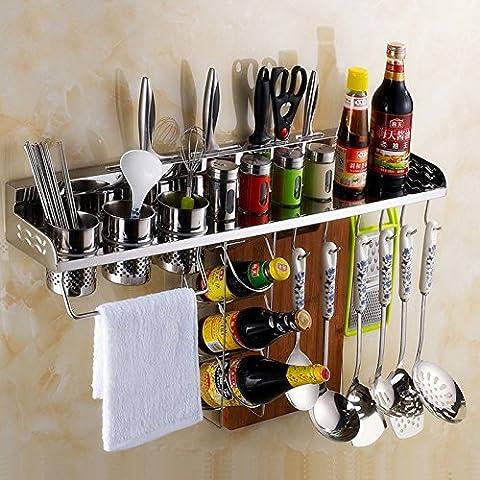 COLLECTOR Cuchillo de cocina de acero inoxidable estantes estante del almacenaje de cocina vinagrera montado en rack de especias
