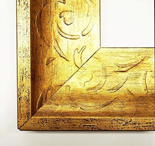 Espejo-de-pared-espejo-espejo-mantilla-dorado-88-Dimensiones-externas-10-x-10-Madera-Real