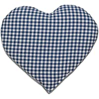 Rapssamenkissen Herz | ca. 30x25cm blau-weiß | Wärmekissen | Körnerkissen | Ein charmantes Geschenk preisvergleich bei billige-tabletten.eu