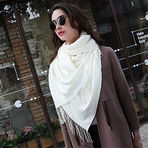 LFJY L'automne et l'hiver Les Couleurs Solides écharpe châle en Cachemire Imitation Chaude Femme