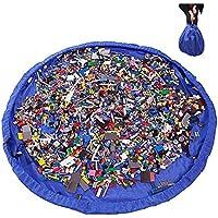 Preisvergleich für Syclecircle 2in1 Kinder Aufräumsack mit Kordelzug Spieldecke Spielzeug Speicher Tasche Aufbewahrung Beutel Spielzeugaufbewahrung 150cm für Zuhause, Outdoor