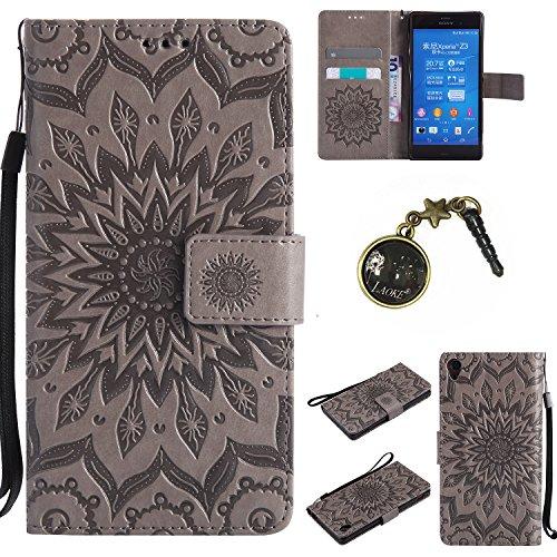 Preisvergleich Produktbild PU Silikon Schutz hülle Handyhülle Painted pc case cover hülle Handy-Fall-Haut Shell Abdeckungen für Sony Xperia Z3 (5,2 Zoll (13,2 cm) +Staubstecker (4FF)