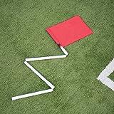 Bandierina per calcio d'angolo pieghevole per allenamento di calcio, Set da 4, Set da 24