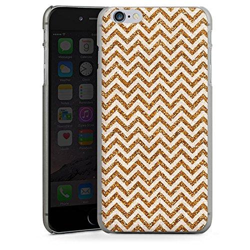 Apple iPhone X Silikon Hülle Case Schutzhülle Zickzack Muster Orange Hard Case anthrazit-klar