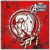 Adolescentes Marvel Avengers Assemble Servilletas De Papel, Paquete de 20 incluye Iron Man