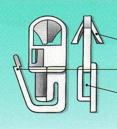 Klickfix Gardinengleiter- 100 St. im Originalkarton- Gardinen aufhängen leicht gemacht!