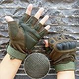 KT-SUPPLY Motorrad Handschuhe kurz für Painball Airsoft Militär und taktischen Aktivitäten Armeegrün L - 5