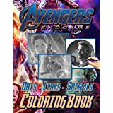 Avengers Endgame Dots Lines Spirals Coloring Book: Featuring Fun And Relaxing Avengers Endgame Activity New Kind Books For Ad