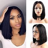 BLISSHAIR Parrucche lace front parrucca donna capelli Umani veri Short Bob Dritti Brasiliani Glueless Lace Front 4X4…