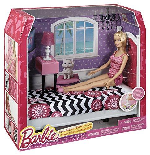 Barbie CFB60 - Bambola Barbie e i Suoi Arredamenti, Camera da Letto