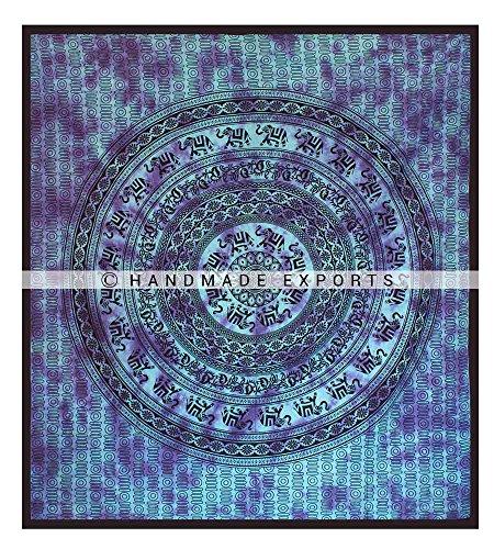 t Tapisserie Wand hängende Schlafsaal Dekor indischen böhmischen Tapisserie psychedelischen Wand Tapisserie Hippie Bettdecke Bettdecke Bettwäsche von handgefertigten Exporten (Tye-dye-bettwäsche Queen)