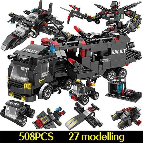 duanlidong 750pcs City Police Station Building Blocks Compatible Legoingly City SWAT Team Truck Blocks Educational Toy For Boys Children