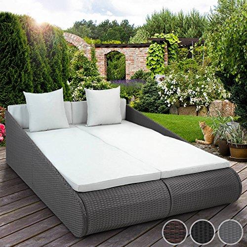 Miadomodo Sonnenliege Lounge Gartenmöbel Sitzpolster Gartencouch Aus
