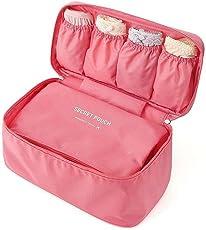 Absales Travel Women Underwear Storage Box,Portable Waterproof Protect Bra Lingerie Accessories Storage Organizer Bag